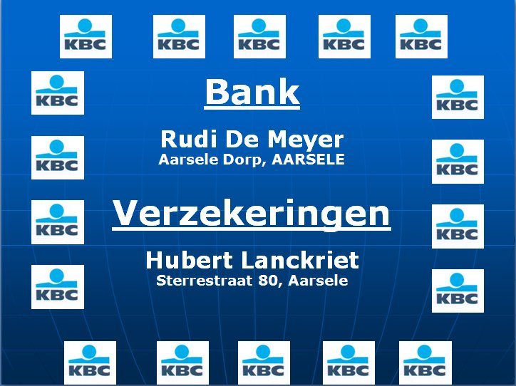 Sponsor KBC Bank Rudi De Meyer